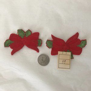 VINTAGE 2 Christmas bow patches